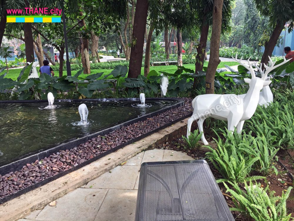 Thane Community Park Fountains and Deers