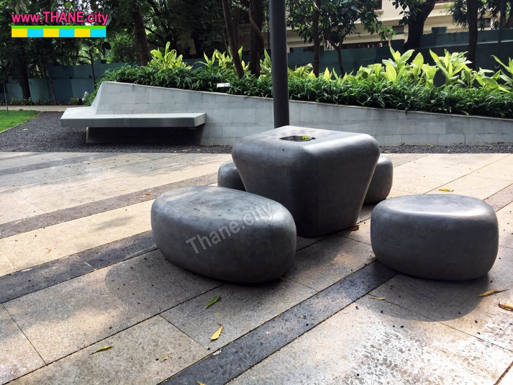 Thane Community Park Stones to sit