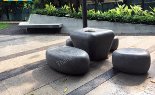 Thane Community Park Stones to sit